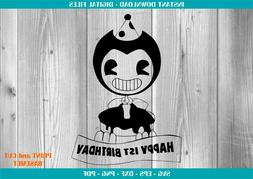 Bendy And The Ink Machine SVG 1 , svg, dxf, Cricut, Silhouet