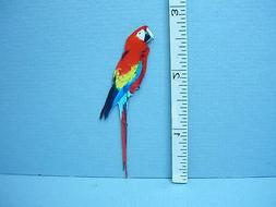 Dollhouse Miniature Wooden Parrot Large Machine Painted One