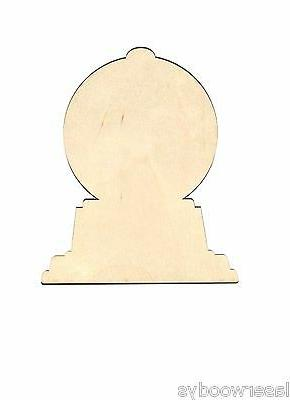 gumball machine unfinished wood shape cut out