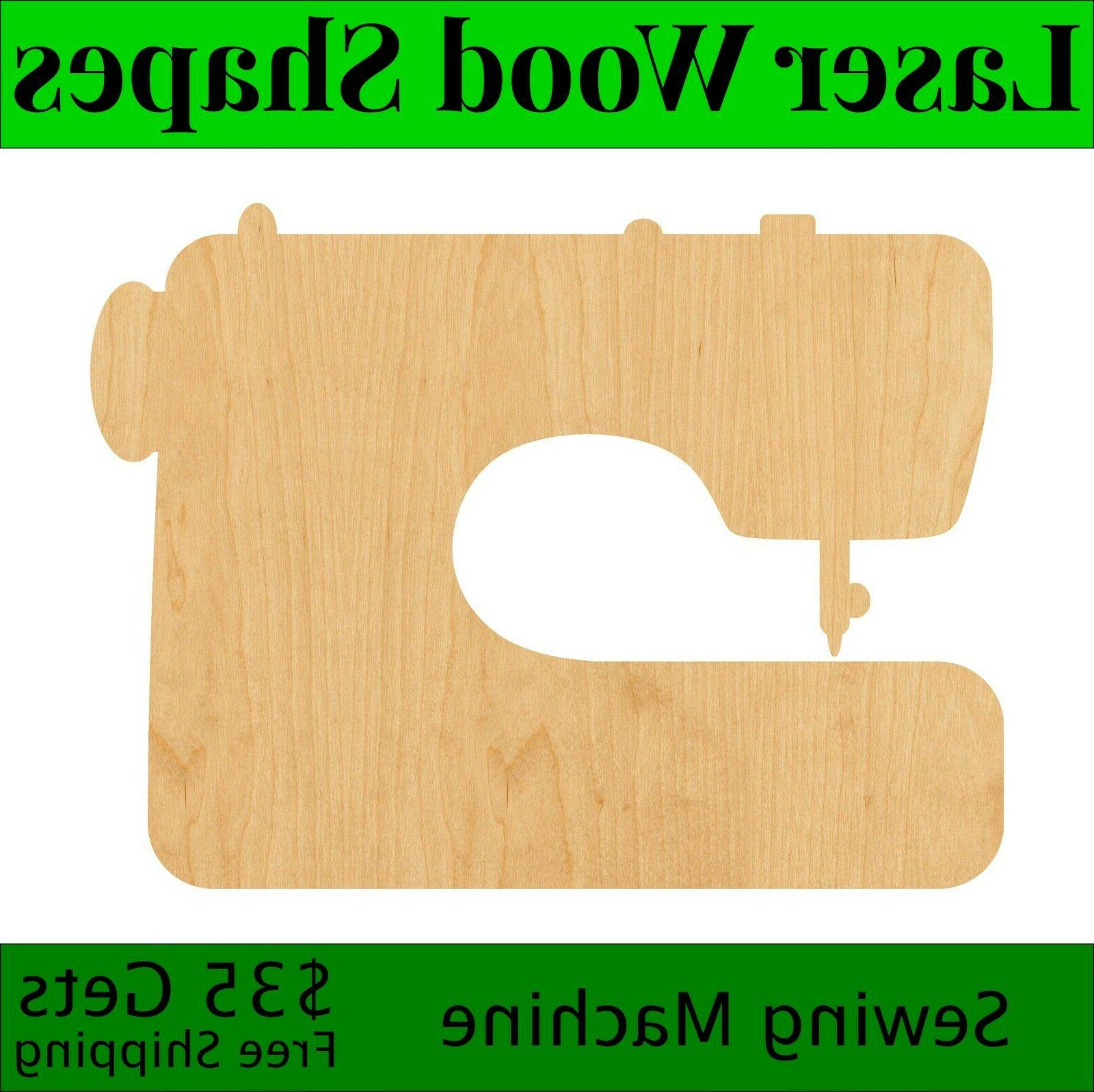 sewing machine laser cut out wood shape