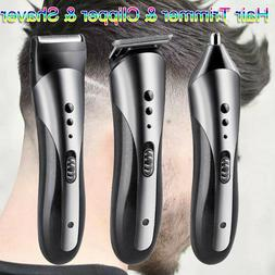 Pro Hair Clippers Mens Trimmers Cutting Machine Cordless Bea